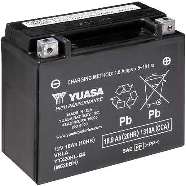 Batterie Yuasa Ytx20hl Bs Wc Agm Geschlossen 12v 18ah Cca 310a 175x87x155mm Für Harley Davidson Fxdfse 1800 Screamin Eagle Cvo Fat Bob Baujahr 2010 Auto