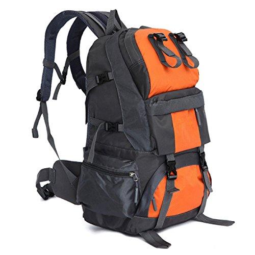 Wasserdicht Nylon Bergsteigen Taschen Hohe Kapazität Outdoor Wandern Reisen Umhängetaschen Black