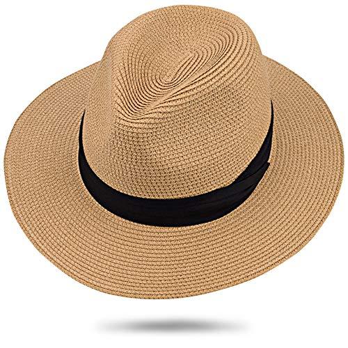Maylisacc Sombrero Panamá Enrollable de 59 60cm