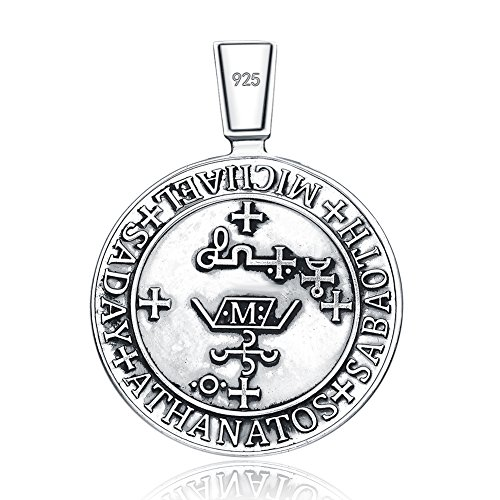 Necklaces archangel stmichael seal protection medal christian archangel stmichael seal protection medal christian talisman sterling 925 silver pendant necklace aloadofball Image collections