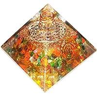 mit mehreren Schmucksteinen Pyramide Heilung Kristalle Reiki organite Pyramide Reiki Spritual Geschenk mit Rot... preisvergleich bei billige-tabletten.eu
