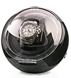 Best Watch Winders - AXIS® Black Spherical Single Watch Winder with Blue Review