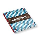 Bayerisches Hochzeitsgästebuch Gästebuch blau weiß HERZ rot BAYERN kariert quadratisch 21 x 21 cm - Hochzeit Oktoberfest Geburtstag Ferienwohnung Hotel Gastronomie