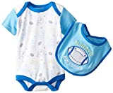 BON BEBE Baby-Boys Newborn Always Awesome Bib and Bodysuit Set, Multi, 6-9 Months