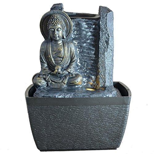 Zen arôme - feng shui serenity, fontanella per interni con led, 18 cm