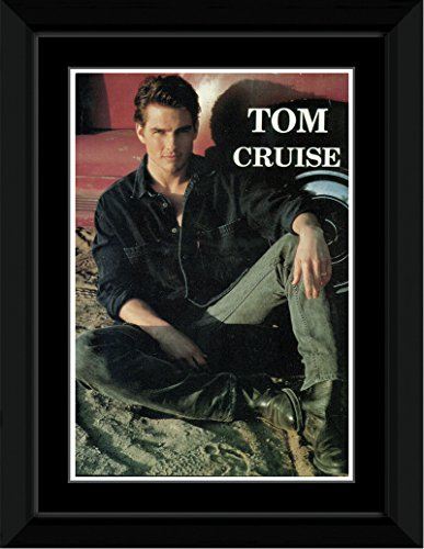 Tom Cruise - Sitting Framed and Mounted Print - 14.4x9.2cm