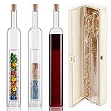 Geschenke-Flasche mit 2. Hohlraum - Holz-Geschenk-Verpackung - Hochzeitsgeschenke und Geldgeschenke zur Hochzeit - Geburtstag