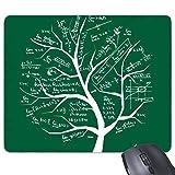 Yanteng en Forme d'arbre à la Recherche des limites Mathématiques Formules Science Calculus Peint Bâton Figure Rectangle Antidérapant en Caoutchouc Tapis De Souris Jeu Tapis De Souris Cadeau