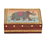 Wooden Jewellery Box With Handcrafts Wor...