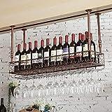 MTX Ltd Weinregale Hängender Glashalter Hoher Getränkehalter, um Jeden Raum zu Vervollständigen, 150cm*25cm