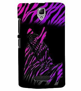 PrintVisa Animal Zebra Print & Pattern 3D Hard Polycarbonate Designer Back Case Cover for Lenovo A2010
