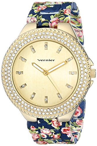 Calibro da donna vnr11167bu rhinestone-accented Gold-Tone Orologio - Gold Tone Vintage Pocket Watch