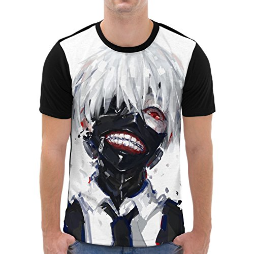 VOID Ghoul Kaneki Men's Graphic T-Shirt all-over print tokyo anime manga, Size:M