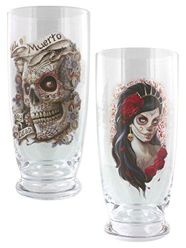 Spiral Giorno Dei Morti - Set da 2 Bicchieri Per Bevande