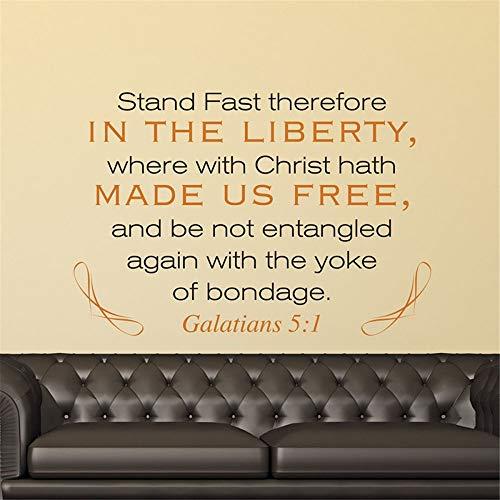 wandaufkleber sterne bunt Stehe daher fest in der Freiheit, wo Christus uns frei gemacht hat