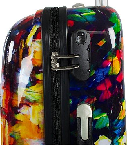 Polycarbonat ABS Kofferset Trolleyset 2-tlg. mit Motiv Colorful Rain
