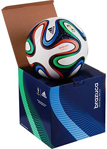 adidas Fußball Brazuca Top Replique X-Mas, White/Night Blue/Multicolor, 5, G73621 -