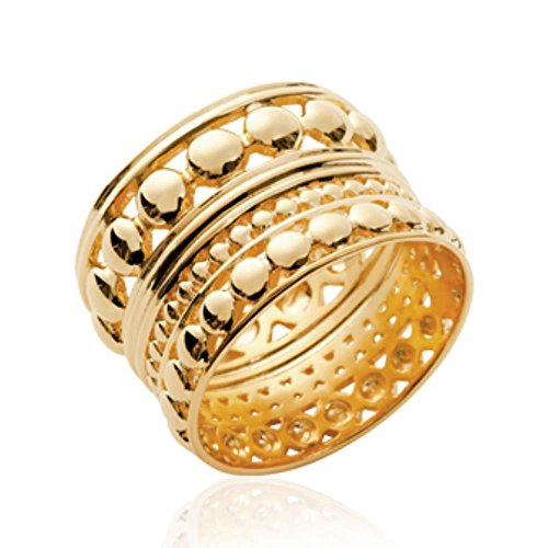 e02549438b536b ISADY - Texas Gold - Bague femme - Plaqué Or 750 000 (18 carats