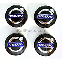 Genuine Volvo Negro Centro Tapa de buje Kit (4 unidades)