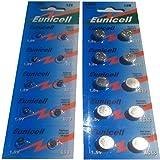 Eunicell AG0 - AG13 (je 10 Batterien AG0 - AG13) 14 Blistercard a 10 Batterien FBA