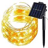 Luce Energia Stringa Solare Natale, MMTX 10M 100LED Catena Luci Giardino Feste Decorative Esterne del Filo di Rame Impermeabile Luci Della Corda Decorazione Migliore per Natale Giardino Ornamento