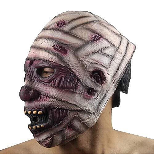 Halloween Latex Scary Zombie Maske Rubber Horror Mascaras Mumifizierte Dämonen Parasiten Grimassen Masken ()