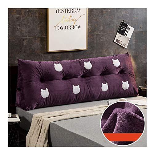 Keil Stützkissen (MXK Gepolstertes Dreieckiges Keil-Kissen, Sofabett-Kissen-Kissen-Lesekissen-Rückenlehnen-Positionierungs-Stützkissen, Lordosenstütze Für Büro-Bettsofa (Color : Purple, Size : 100x22x50cm))