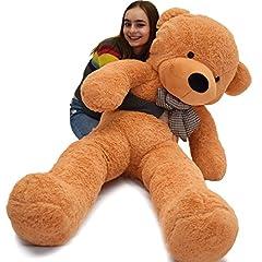 Idea Regalo - VERCART Giocattoli di Peluche Bambino Orsacchiotto Gigante Orso Bambola Morbida Regalo di Compleanno Fidanzata Marrone Chiaro 180CM