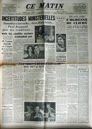 COMBAT [No 1051] du 23/11/1947