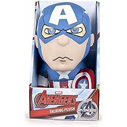 Marvel Famosa Softies - Peluche 25 cm con sonido Capitán América (Famosa 760014301)