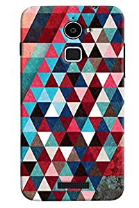 Omnam Pattern printed dark design triangular back cover For Coolpad Note 3 lite