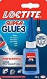 Loctite Super Glue-3 Professionnel, colle forte grand format pour larges applications, colle liquide à séchage immédiat, colle transparente, flacon de colle 20 g
