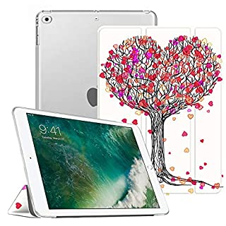 Fintie iPad 9.7 2018/2017 Case - Lightweight Slim Shell Cover with Translucent Frosted Back Protector Supports Auto Wake/Sleep for Apple iPad 6th / 5th Gen 9.7 Inch, Autumn Love