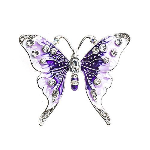 Lumanuby Brosche Weihnachtsserie Schmetterling Fashion, elegantes Design Brosche Pin für Hochzeit,  Metall-Legierung Schal Clip Liebhaber(in) lila violett