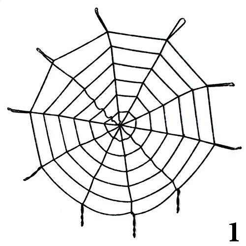 HAPPYQUDA 1.5/3m mega spinnennetz indoor - outdoor halloween gruselig dekor party - (Dekor Spinnennetz)