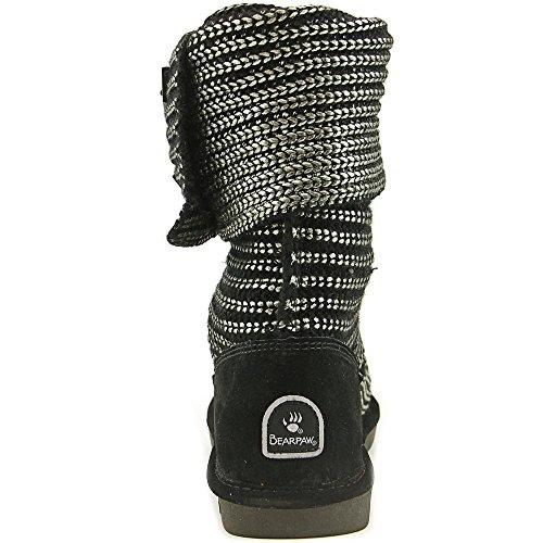 Bearpaw knitallic Synthétique Botte d'hiver GunMetal
