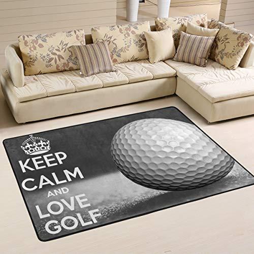 Xianghefu personnalisé Zone Rugs Keep Calm Balle de golf Sport 3'X2' (91,4x 61cm) Tapis de...