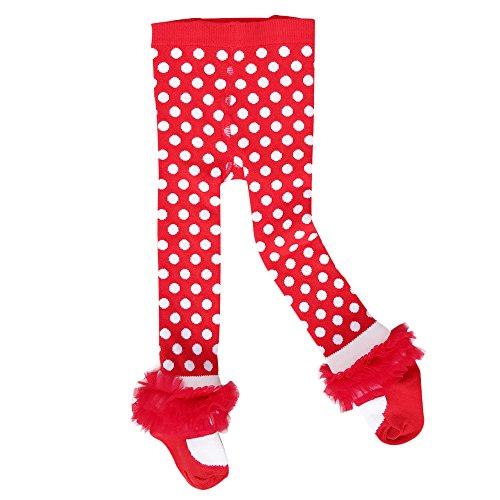 Sanlutoz Baby Strumpfhosen Mädchen Baumwoll Rich Panty Schlauch Kinder Strümpfe Neugeborenen (24-36 Monate, LGS009 (Socken Mit Oberschenkel Kleid Hohe)