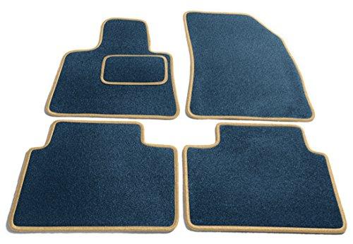 Preisvergleich Produktbild JediMats 55221 Korfu Maßgeschneiderte Fußmatte für Ihr Auto, Blau, Prestige Beige Umrandung