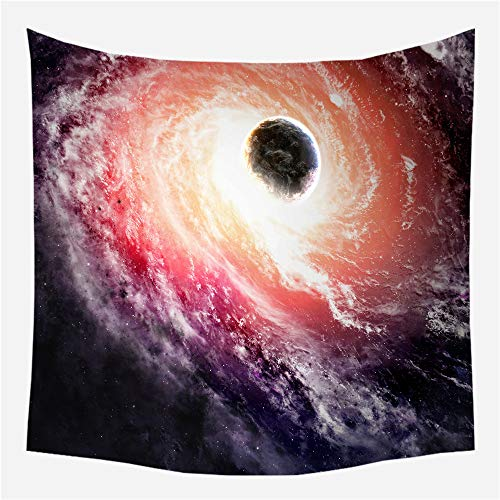 HCYHU Universe Galaxy Tapestry Wall Hanging Light-Weight Mysterious Black Tapestry Polyester Wall Home Decor 150cm*200cm -