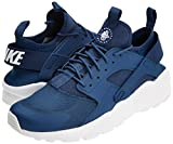 Nike Air Huarache Run Ultra, Baskets Homme, Blanc (Navy/White 409), 42 EU