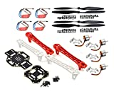 #4: Adraxx F450 Quadcopter Frame Kit With A2212 Kv1000 Brushless Motor And 4 30A Esc And 2 Pair 1045 Propeller