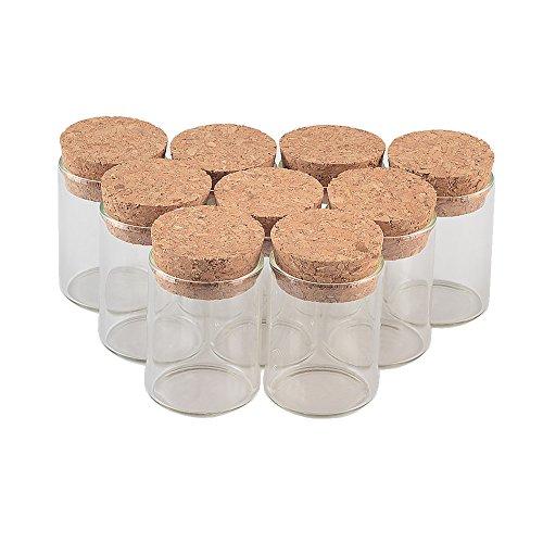Lagerung Von Flüssigkeiten (Jarvials 15ml transparente reagenzglas glasflasche mit korken stopfen,geeignet für die lagerung von flüssigkeiten, lakritz, Sand, Pulver (12, 15ml))