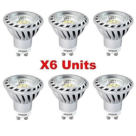 Xpeoo® Pack de 6 Ampoule LED GU10