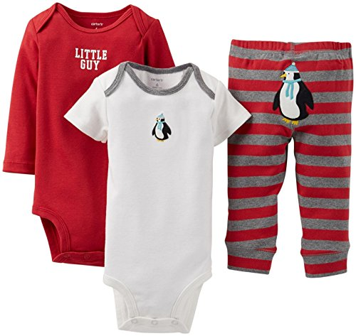 Carter's 3-teilig 'N MIX MATCH Baby/Kleinkind Boys'Little Penguin Body Pant & Set (Mix-outfits Little)