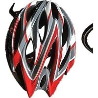 MAXTK Casco De Bicicleta De La Motocicleta Cuatro Estaciones Hombres Y Mujeres Modelos Personalidad Casco Ultra Ligero,Redwhite