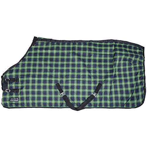 Stalldecke MINNESOTA HKM dunkelblau/grün karo 135cm