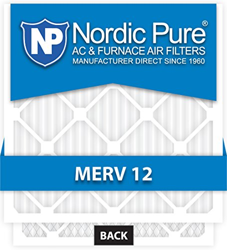 20x16x1 Ofen-filter (Nordic Pure 10 x 16 x 1customm12–6 Merv 12 AC Ofen Filter, 6 Stück)