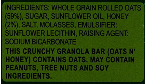 Nature Valley Crunchy Granola Bars, Oats n Honey, 252g