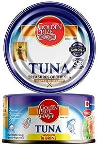 Golden Prize Tuna Sandwich Flakes in Brine, 185g (Pack of 2)